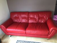 DFS REAL LEATHER SOFA EXCELLENT CONDITION