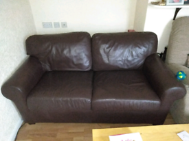 Two seater leather Sopha OFFERS