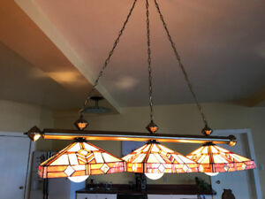 Tiffany stained glass light fixtures
