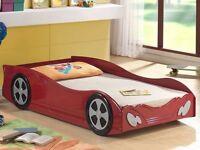 Ferrari racing car single bed frame - almost new