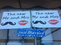 Mr & Mrs / Just Married signs