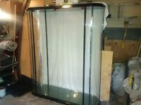 Oval Glass Wall  Display Cabinet