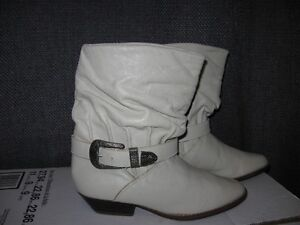 Biarritz Ladies leather ankle Cowboy Slouch boots 6 B