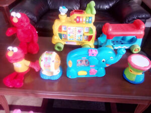 Kids and Babies learning toys, Ride on train, Elmo's and more