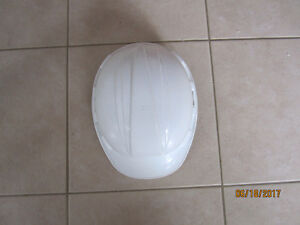 Construction hard hat-white- with adjustable head strap.$5.00