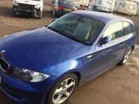 2008 bmw 1 series + only 65,000 mileage + read full ad + MOT