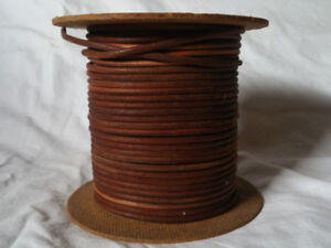 Spool of round treadle sewing machine leather belting