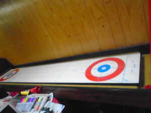 Curling Shuffleboard Table and Accessories