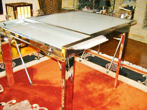 Chrome/glass extension table Kitchener / Waterloo Kitchener Area image 3