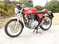 ROYAL ENFIELD CONTINENTAL GT E4 2017 535cc 409 MILES FROM NEW