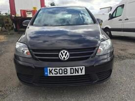 2008(08) Volkswagen Golf Plus SE 1.9 TDI PD ( 105PS ) Black 5d**ANY PX WELCOME**