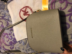 Pastel Grey Michael Kors leather purse