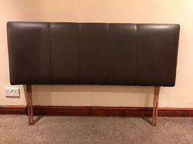 Brown leather Look Headboard (King Size)