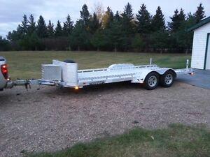 18ft aluminum car hauler