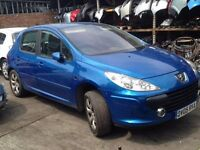 05 PEUGEOT 307 SE HDI 1.6 5 DOOR HATCH BLUE - DIESEL ENGINE - 9HX BREAKING SPARES PARTS