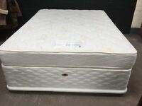 New never been used 4 drawer double devan plus mattress
