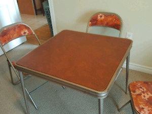 Card Table and 3 chairs