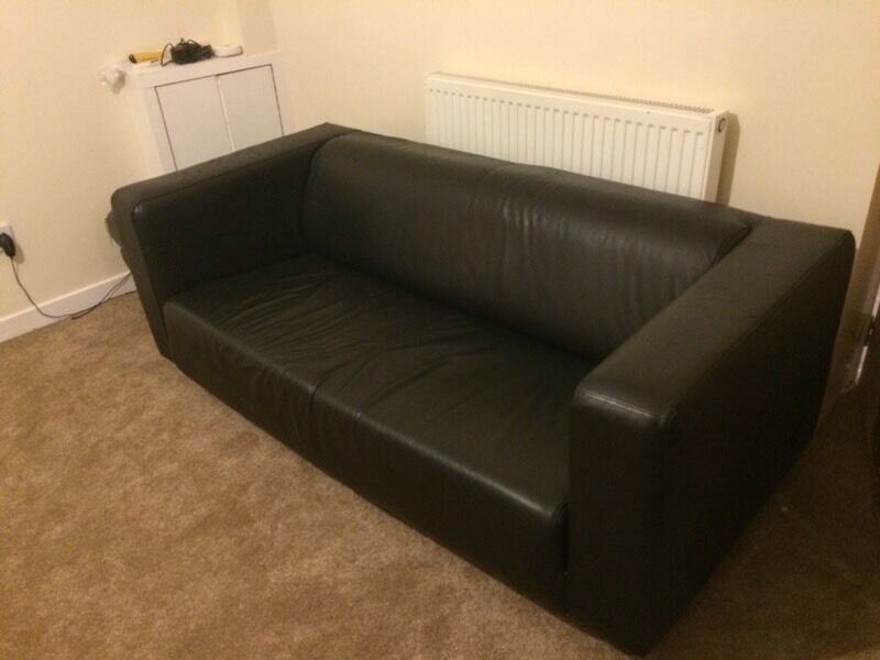 ikea black leather klippan sofa in southside glasgow. Black Bedroom Furniture Sets. Home Design Ideas