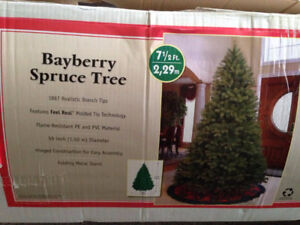 EUC - 7 1/2' Christmas Tree - Bayberry Spruce Tree -Hard to find