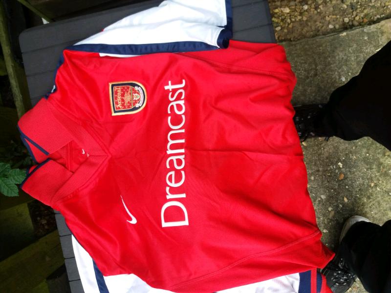 quality design f79df 0e7f5 vintage original arsenal dreamcast home shirt. | in Wisbech, Cambridgeshire  | Gumtree