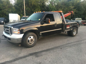04 F 350  tow truck with Vulcan twin line wrecker FLATBED TRADES