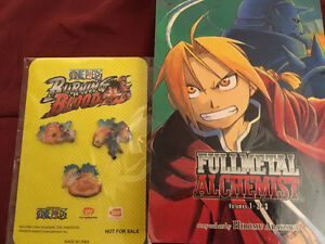 Full metal alchemist volume 1,2 and 3- with one pins