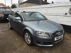 2010 Audi A3 1.6 MPI Sport 5 Speed Convertible Cabriolet Electric Soft Top Full