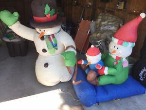 CHRISTMAS INFLATABLE-SNOWMAN