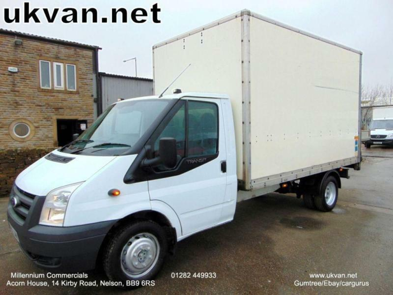 2011 60 FORD TRANSIT LUTON BOX VAN, ONE FLEET OWNER, FULL HISTORY, ONLY 88754 M