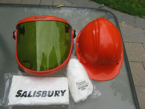 Hard Hat & flash protect face shield