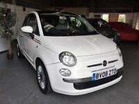 2008 08 Fiat 500 1.4 LOUNGE,Full Pan Roof