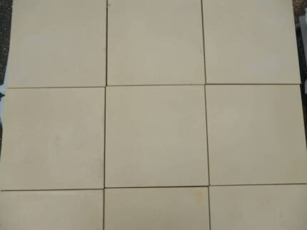 SALE ON NOW 400 x 400 x 40 mm light sandstone concrete pavers