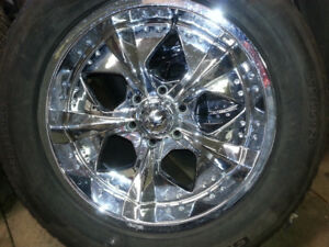 20 in.   Chrome Rims c/w General GRABBER UHP extra load tires