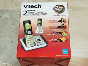 VTech 2 Handset Cordless Answering Phone System CS6729-2