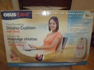 OBUSFORME DEEP KNEADING SHIATSU CUSHION WITH HEAT FOR SALE
