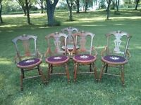 """""""Antique table and chairs."""""""