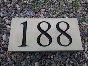 Engraved Garden, Address, and Welcome Stones