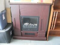 ELECTRIC PORTABLE FIREPLACE -- WORKS GREAT $100.00