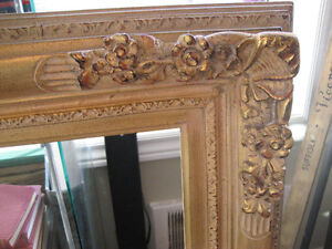 Vintage Hand Carved Wood French Provincial Picture Frame 24 x 30