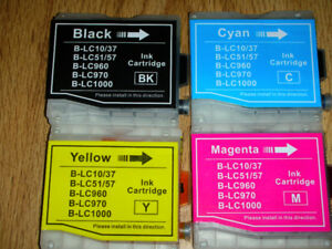 BROTHER LC-51 INK CARTRIDGES---SET OF 4 = $10.00