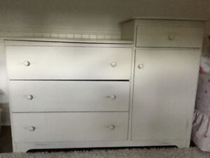 Baby change table with dresser
