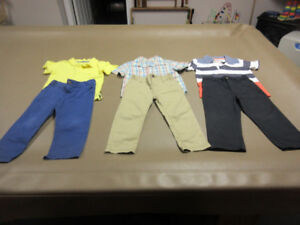 BOYS SIZE 4-T PANTS AND SHIRTS (BACK TO SCHOOL)