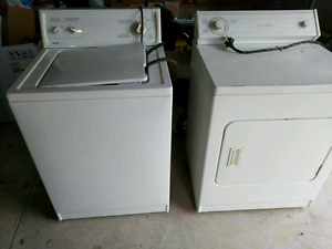Washer and dryer pair.