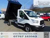 2015 15 FORD TRANSIT T350 MWB TIPPER 125 BHP 6 SPEED EURO 5 STEEL BODY