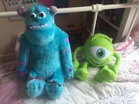 Monsters inc talking sully and Mike