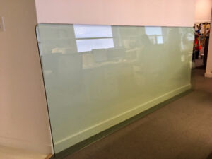 Beautiful Beveled Edge Green Glass Table Top