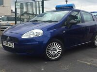 REDUCED!!£1595.00*2007 (57) FIAT PUNTO ACTIVE 1.2 PETROL 5 DOOR (BLUE) MOT 23/03/2017 P/X WELCOME