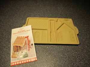 Brand new stoneware gingerbread house mold.