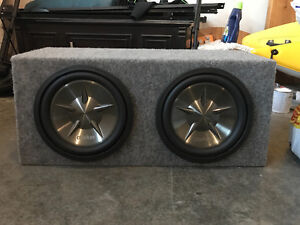 "2 12"" clarion and pioneer amp for sale"