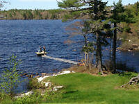 lake side retreat rental, in Hubbards 35 minutes from Halifax